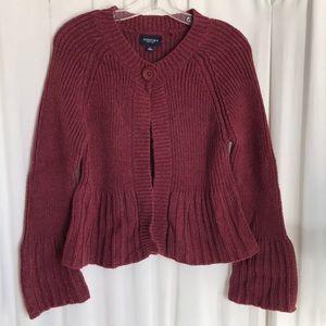 Sonoma Cardigan Sweater Maroon Burgundy